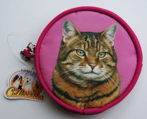 TABBY CAT COIN PURSE IDEAL GIFT FOR CAT LOVERS